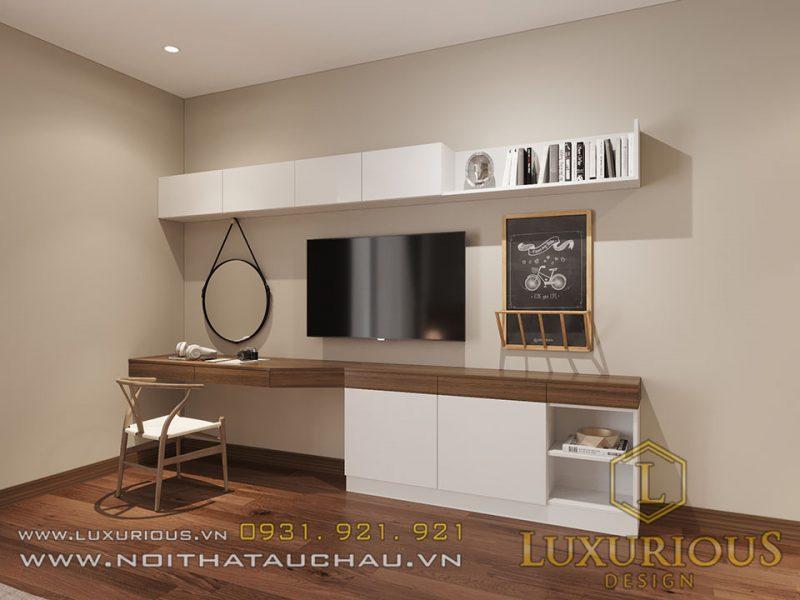 Thiết kế nội thất nhà ống 4 tầng phòng ngủ