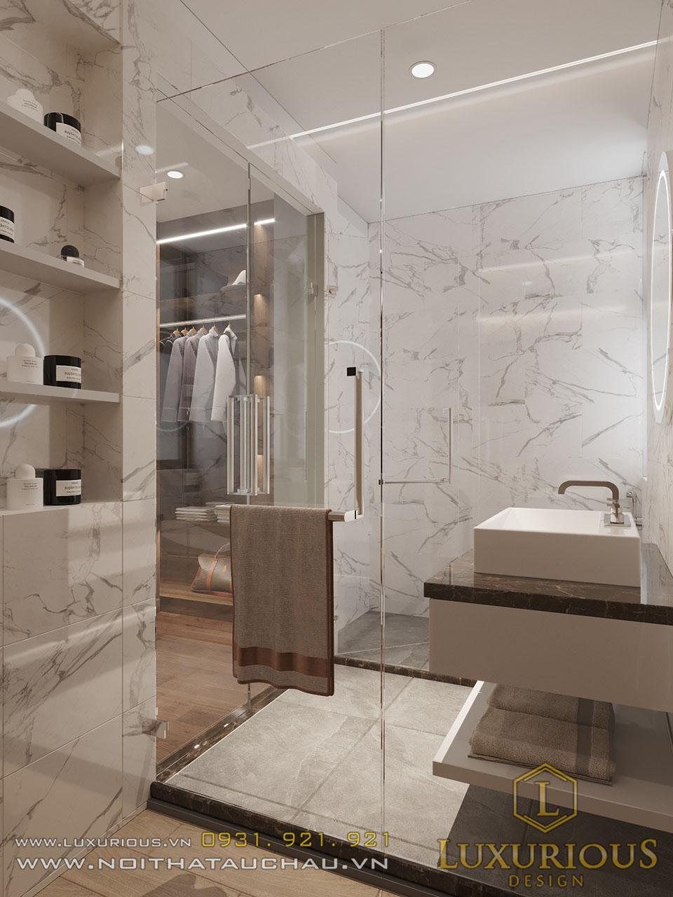 Phòng vệ sinh vách kính đẹp