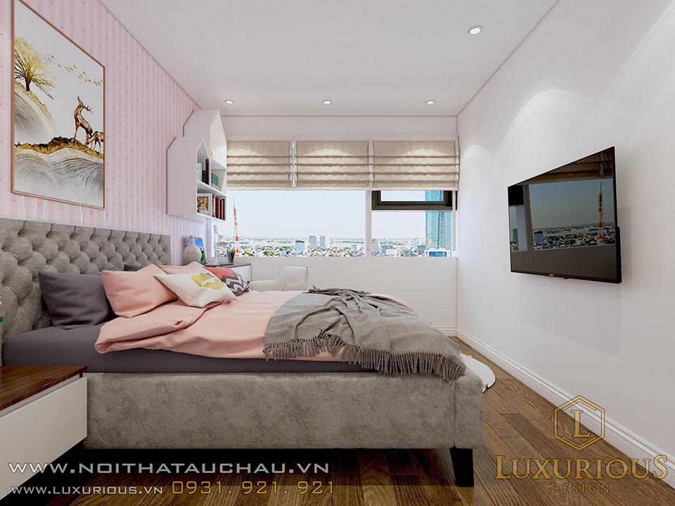 Thiết kế nội thất phòng ngủ chung cư con gái