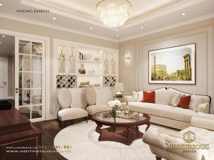 Thiết kế nội thất phòng khách nhà ống 6m
