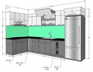 Kích thước tiêu chuẩn nội thất phòng bếp