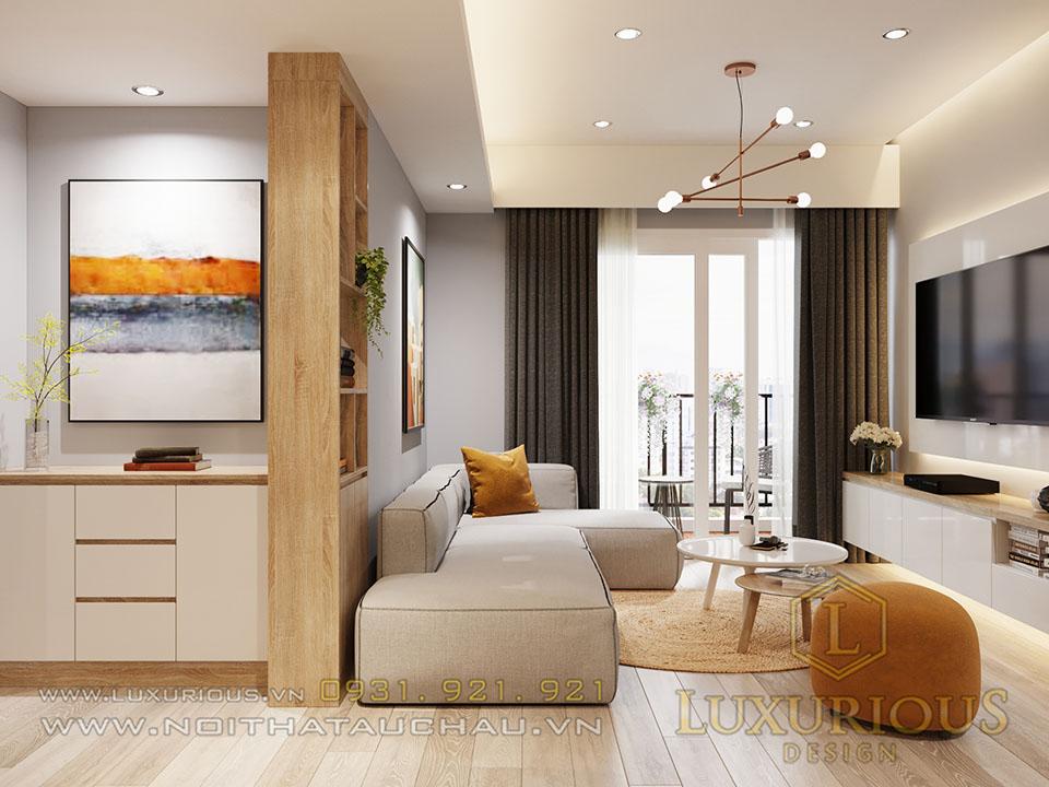 Phòng khách căn hộ Ecopark