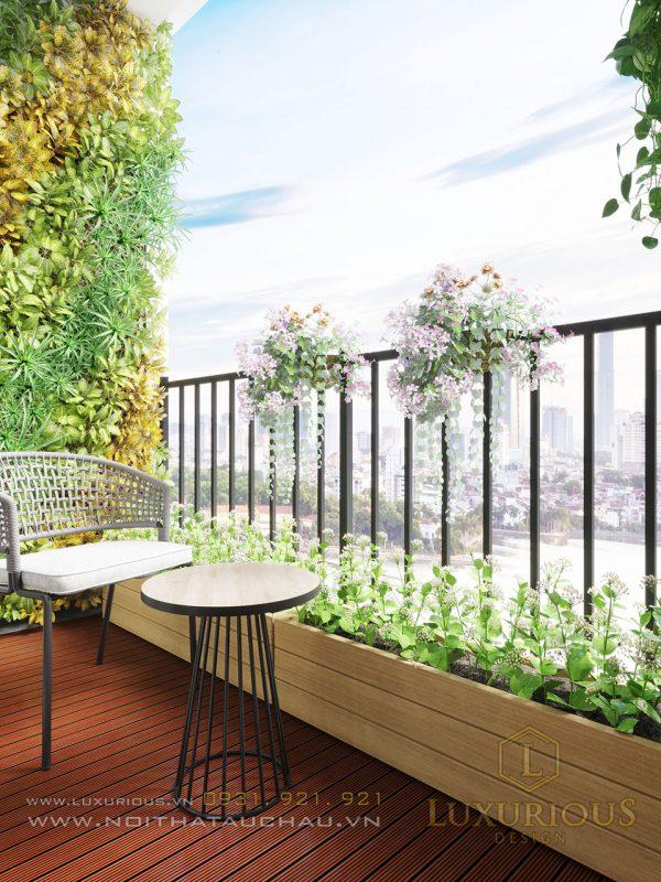 Thiết kế ban công chung cư Ecopark