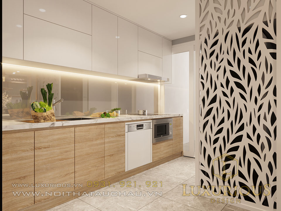 Phòng bếp chung cư hiện đại