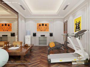 Thiết kế phòng Gym tại nhà biệt thự