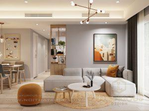 Thiết kế phòng khách chung cư Sky Oasis Ecopark