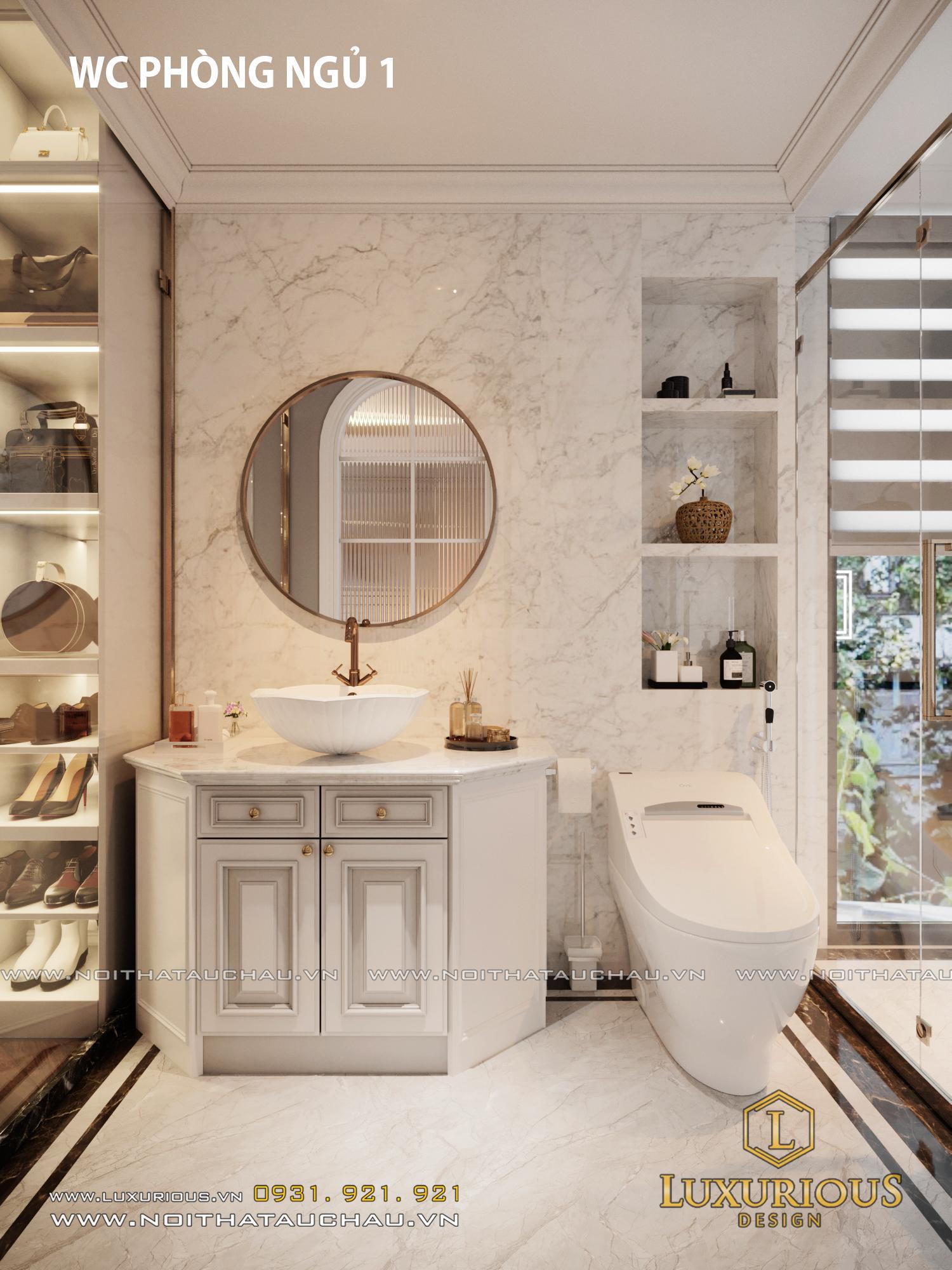 Phòng WC biệt thự Vinhomes
