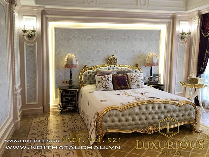 Hoàn thiện nội thất phòng ngủ tân cổ điển