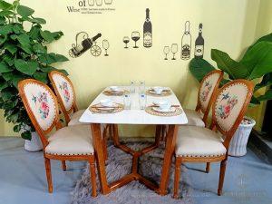 Mẫu bàn ghế ăn Louis 16