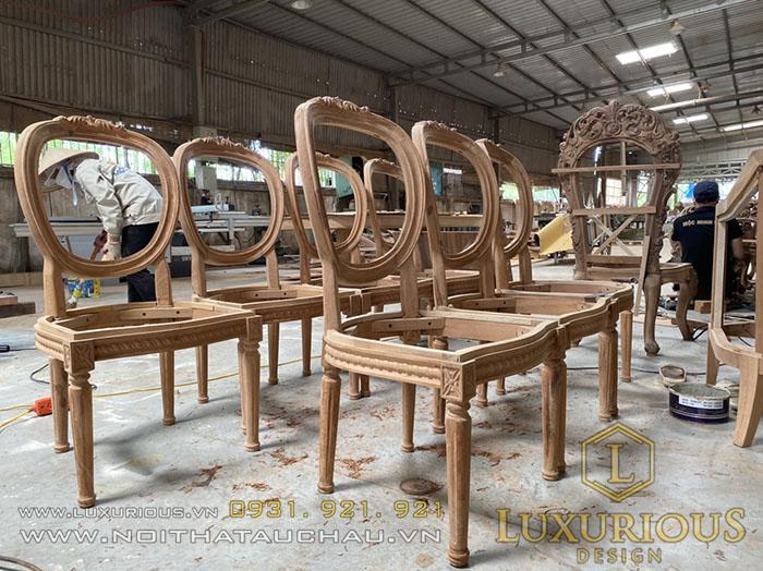 Sản xuất phôi ghế tân cổ điển