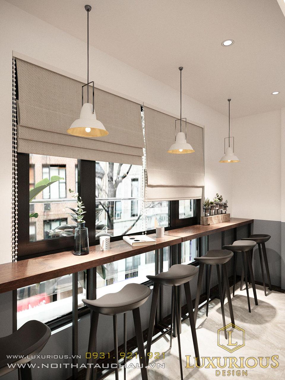 Thiết kế nội thất nhà phố kết hợp quán Cafe