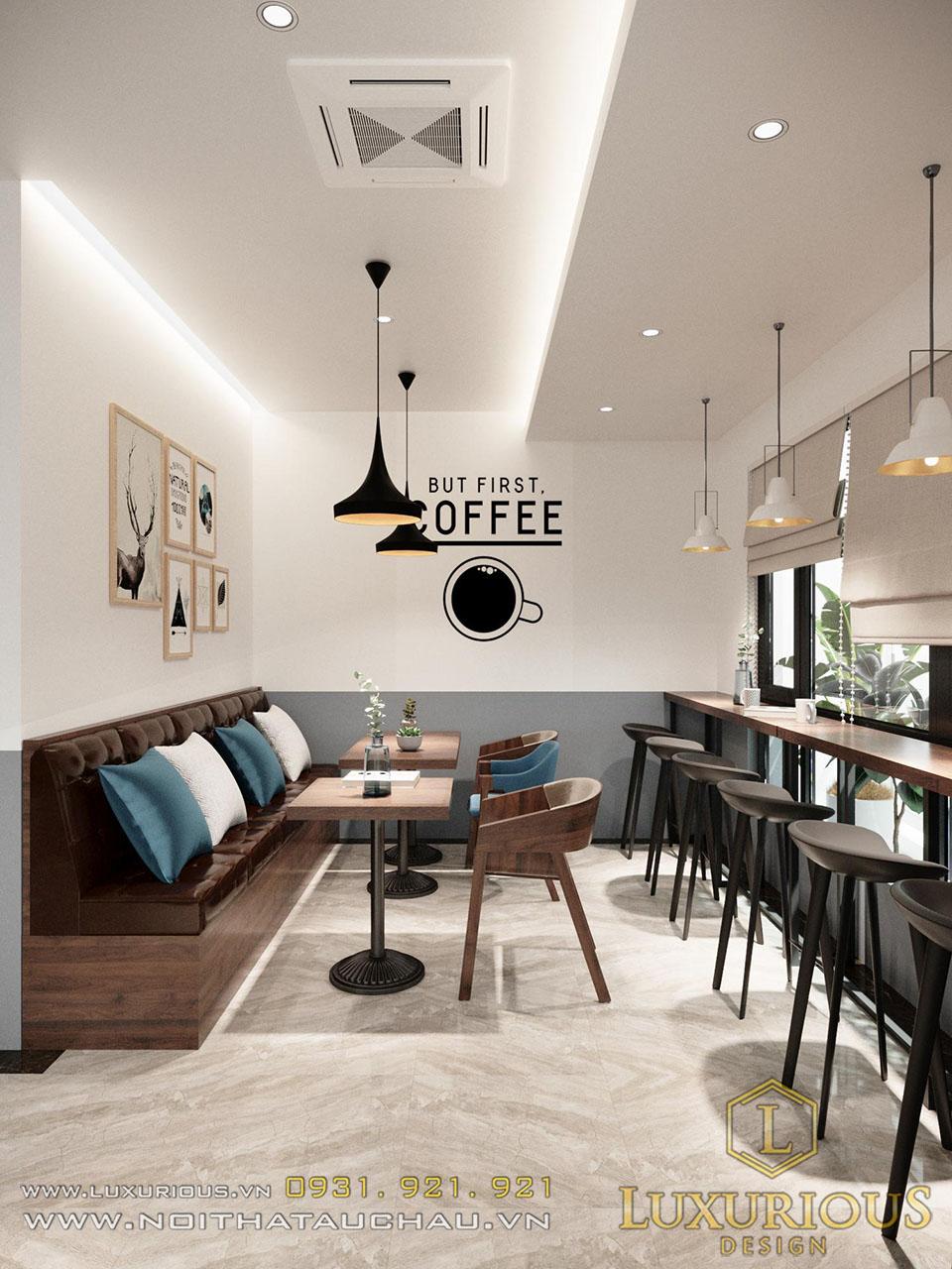 Tầng 1 quán cafe