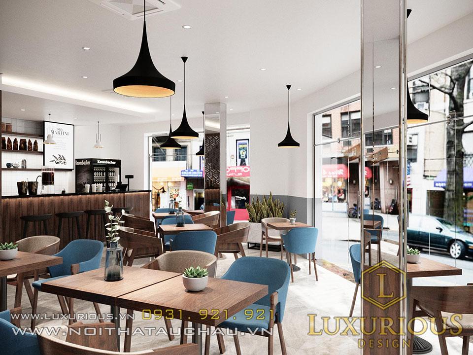 Thiết kế nhà phố quán Cafe