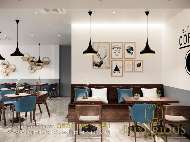 Thiết kế nội thất kết hợp quán Cafe