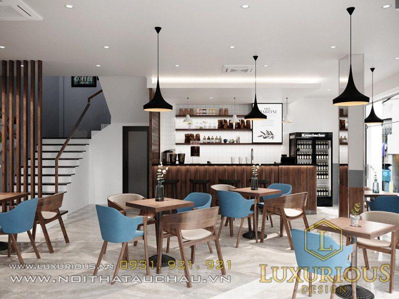 Thiết kế nội thất kinh doanh quán Cafe hiện đại