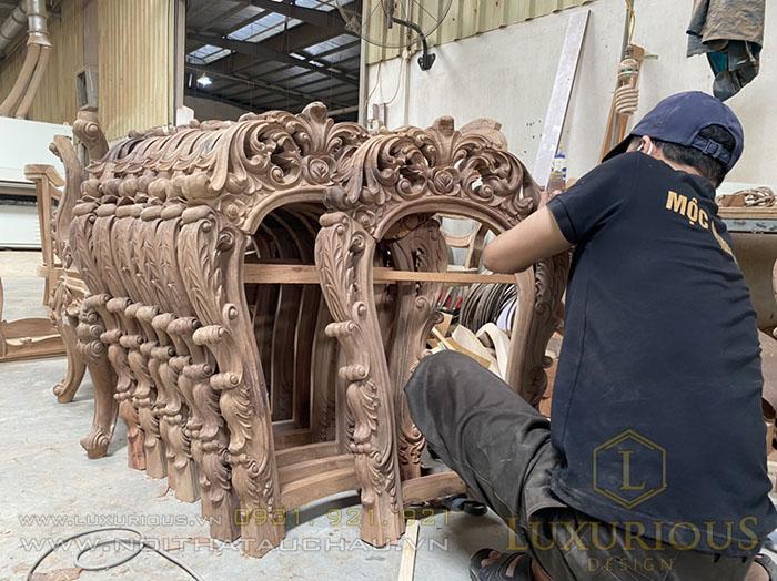Xưởng sản xuất bàn ghế tân cổ điển