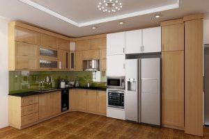 Phòng bếp gỗ Veneer
