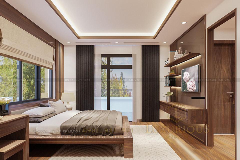 Mẫu thiết kế phòng ngủ hiện đại biệt thự
