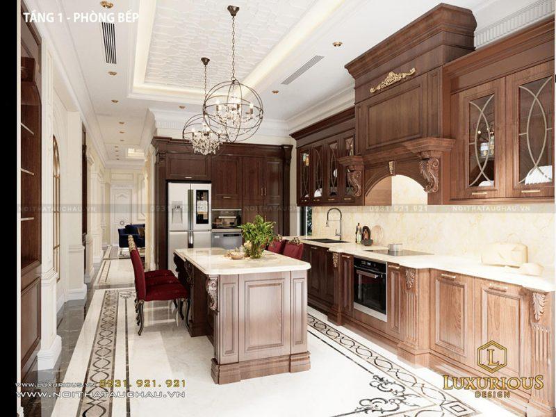 Phòng bếp biệt thự Vinhomes Imperia Hải Phòng