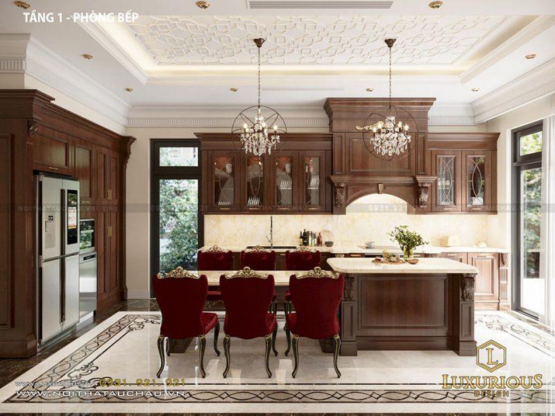 Phòng bếp nội thất tân cổ điển