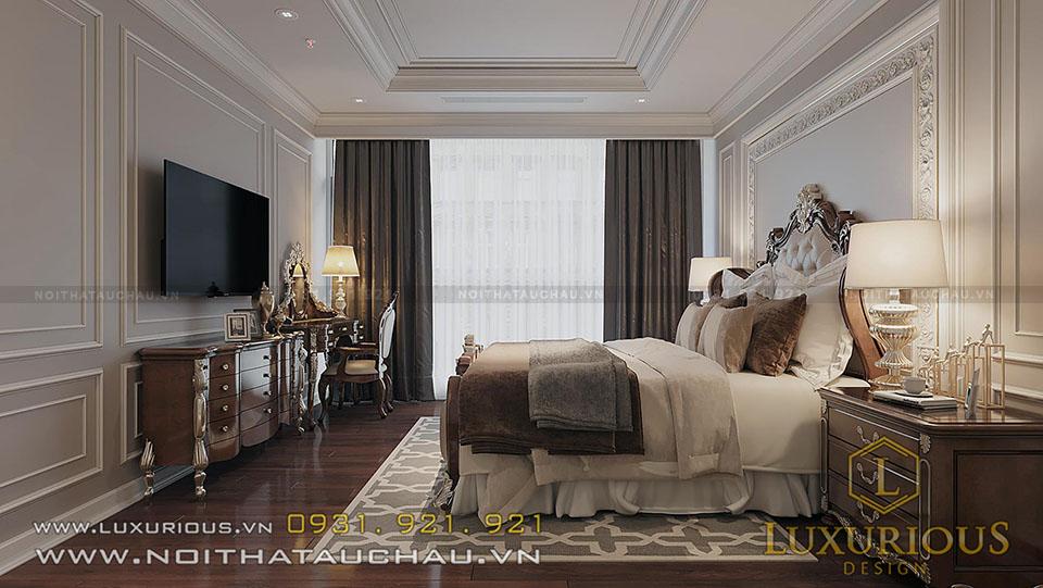 Phòng ngủ Master chung cư tân cổ điển