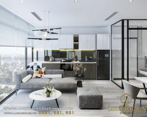 thiết kế phòng khách và phòng ăn liền nhau