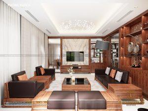 Thiết kế nội thất phòng khách biệt thự nhà phố