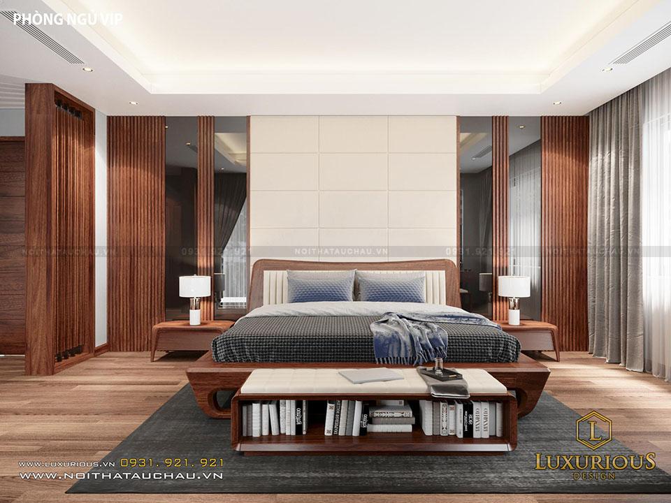 Thiết kế phòng ngủ biệt thự phố hiện đại