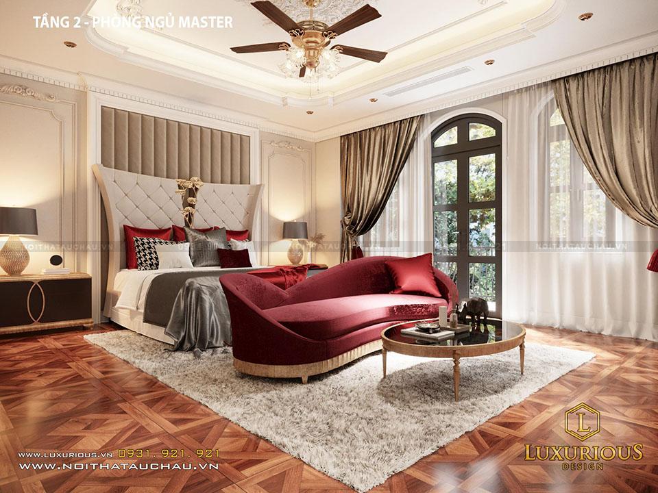 Thiết kế phòng ngủ master tầng 2