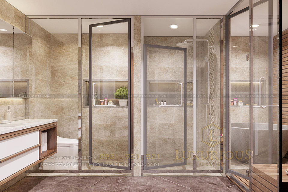 Thiết kế phòng tắm vách kính