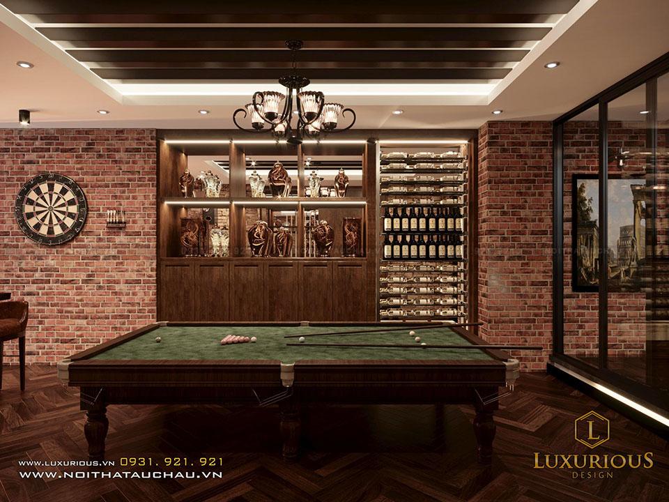 Thiết kế tầng hầm tủ rượu