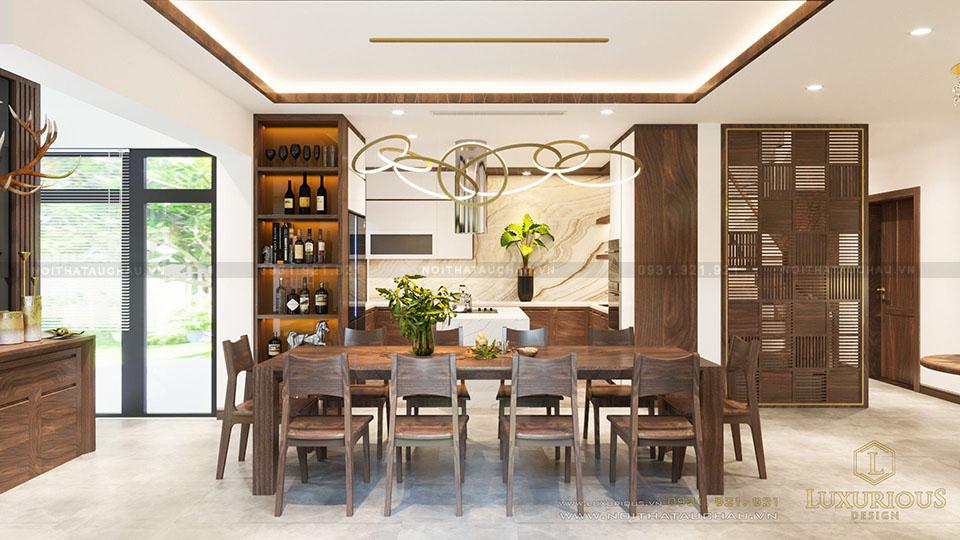 Phòng ăn bếp biệt thự