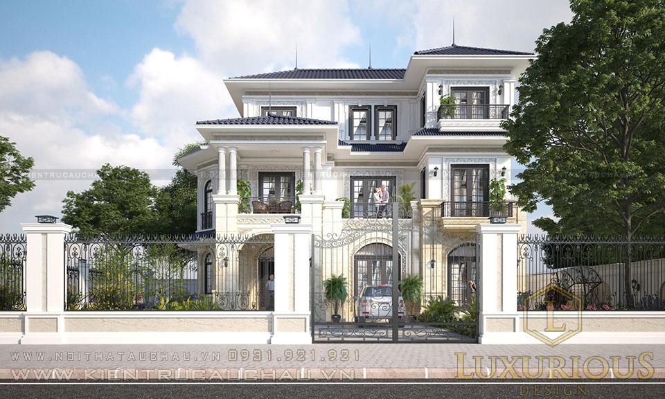 Thiết kế kiến trúc biệt thự tân cổ