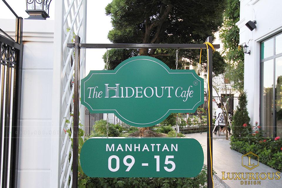 Thi công nội thất quán cafe the hideout
