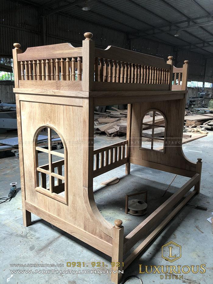 Giường tầng gỗ cho con