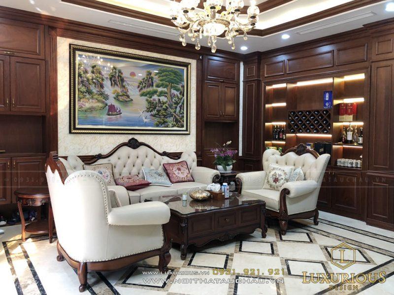 Hoàn thiện nội thất phòng khách biệt thự