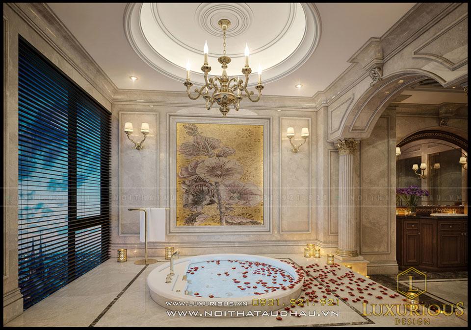 Không gian phòng tắm phong cách Châu Âu