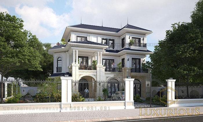 Mẫu kiến trúc biệt thự 3 tầng đẹp tại Sóc Sơn
