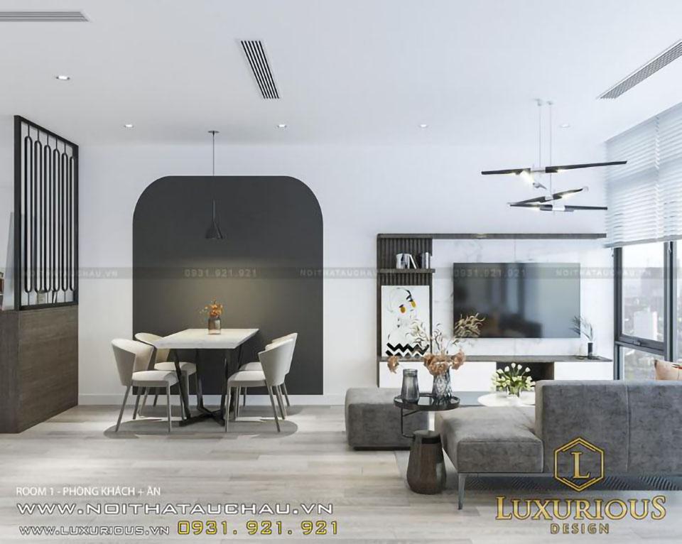 Mẫu nội thất chung cư 70m2 hiện đại