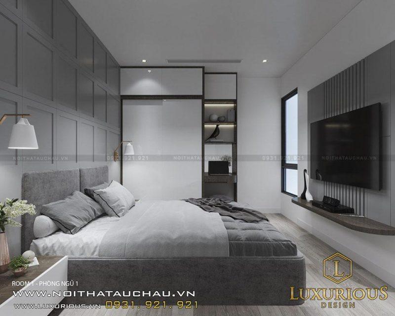 Mẫu phòng ngủ chung cư 70m2 hiện đại
