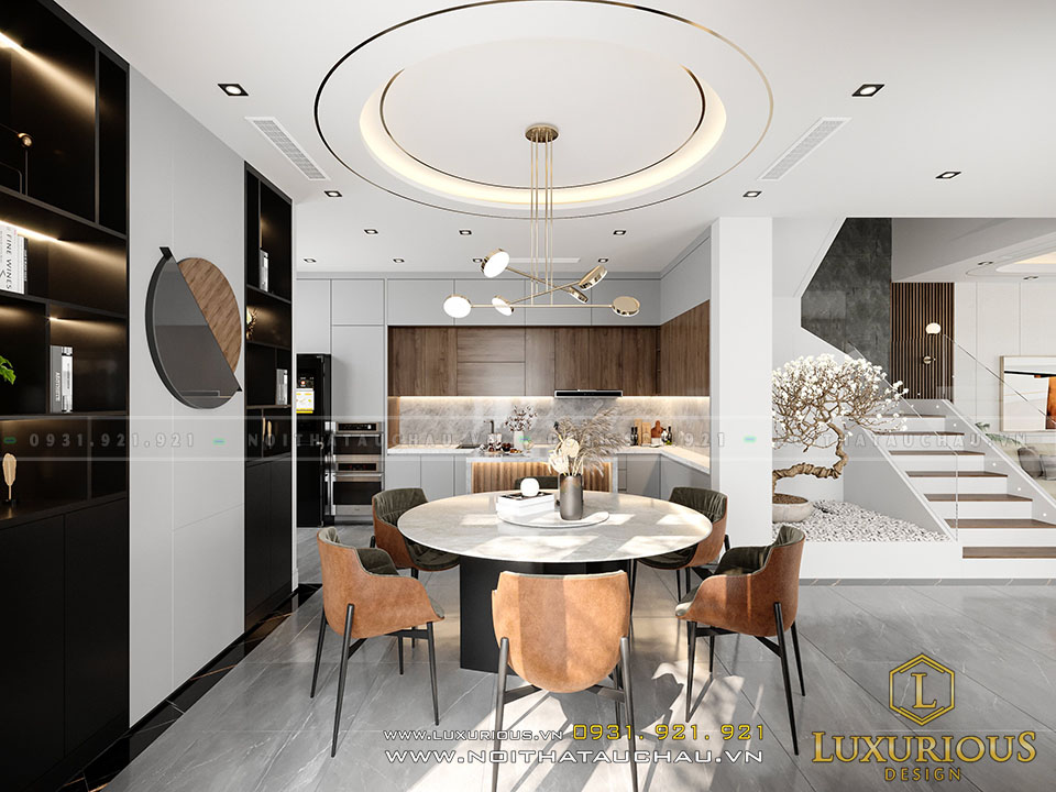 Phòng ăn biệt thự hiện đại Vinhomes