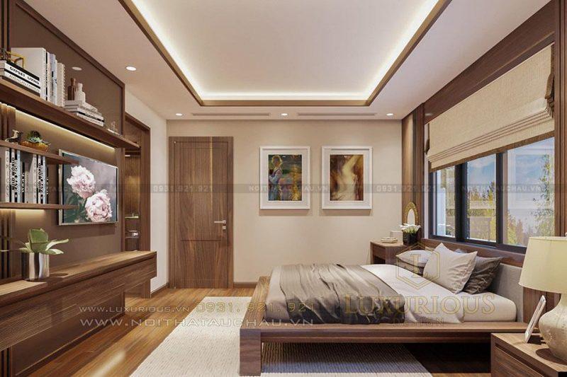 Phòng ngủ hiện đại cho biệt thự song lập
