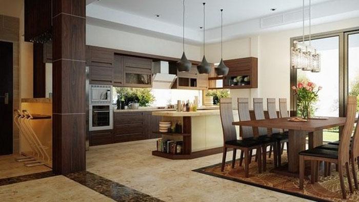 Phong thủy thiết kế nội thất phòng bếp