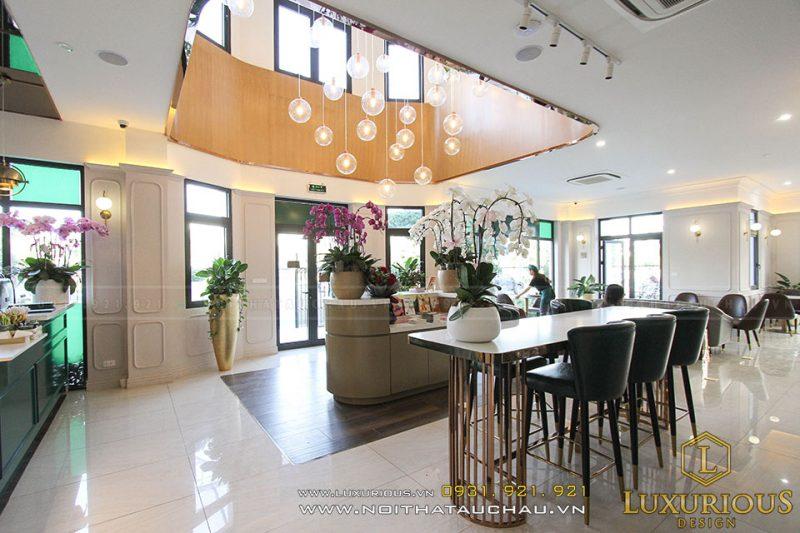 Thi công quán Cafe Vinhomes