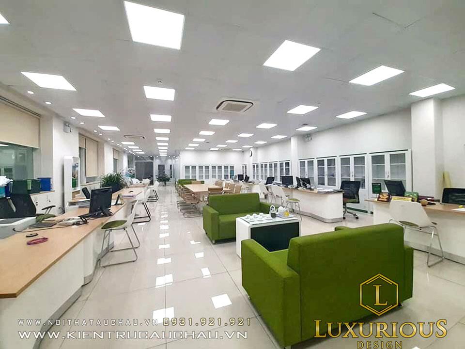 Thi công văn phòng Vietcombank Lâm Đồng