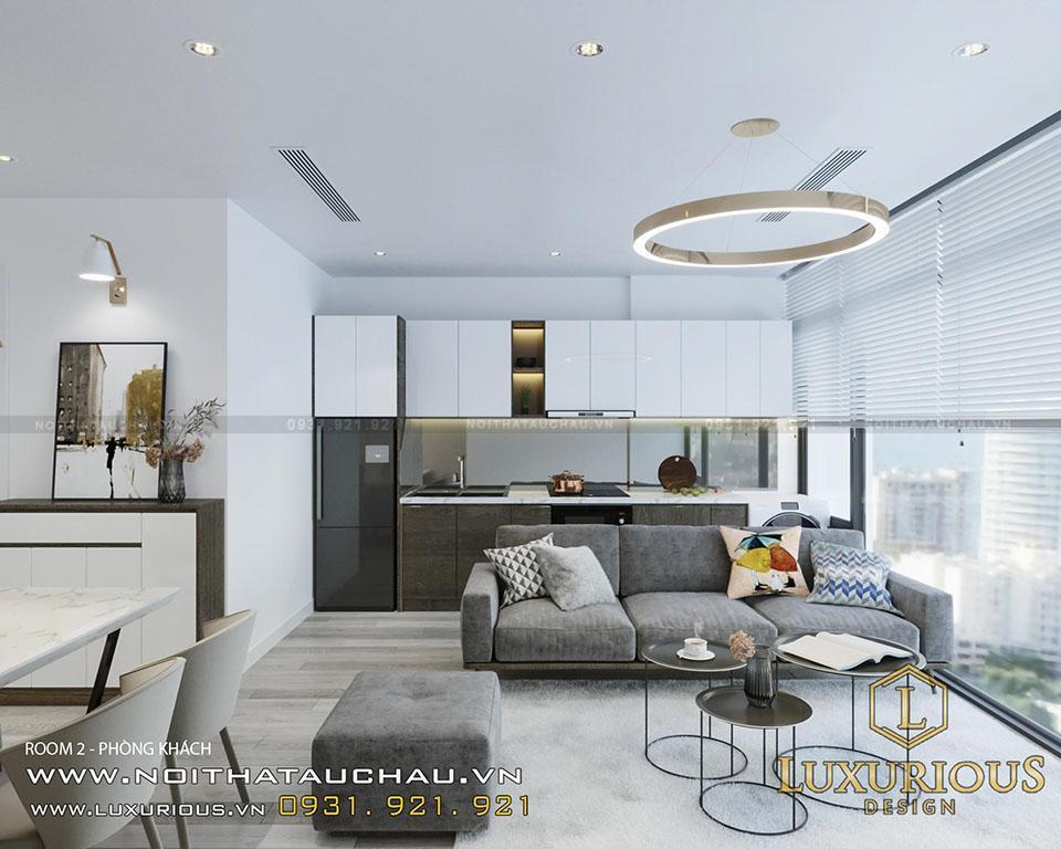 Thiết kế nội thất căn hộ chung cư tối giản