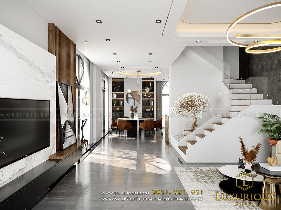Mẫu thiết kế phòng khách đẹp hiện đại