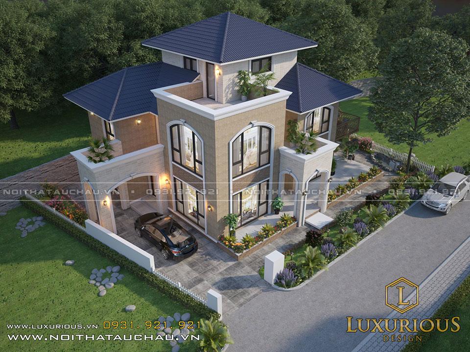 Mẫu cải tạo kiến trúc biệt thự phong cách Địa Trung Hải - Ecopark
