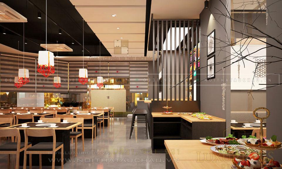 Mẫu nhà hàng đẹp hiện đại