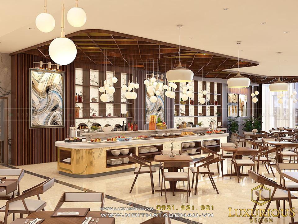 Mẫu thiết kế nội thất nhà hàng độc đáo